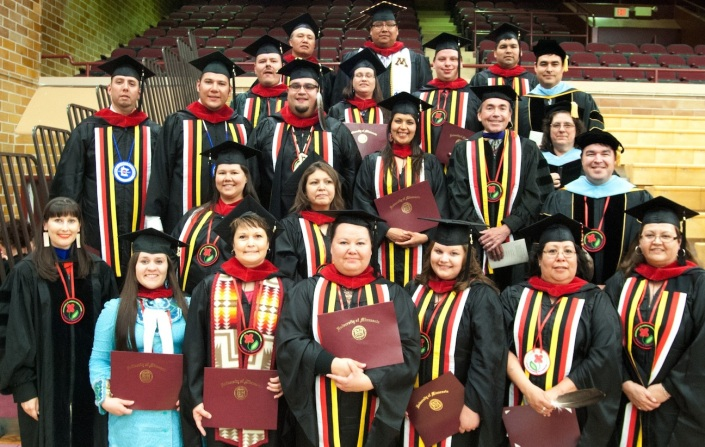 Graduates of the Master in Tribal Administration and Governance Program.
