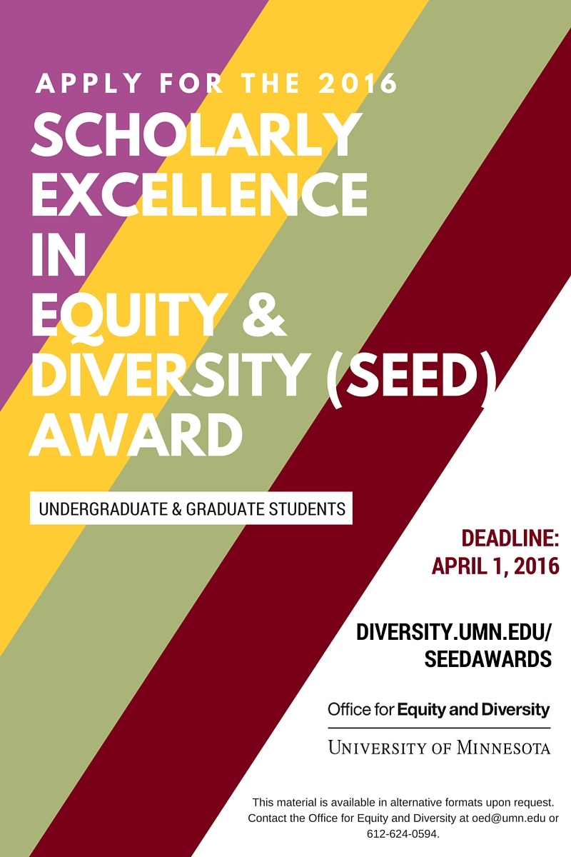 Call for Applications: 2016 SEED Awards