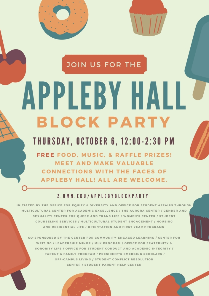 Appleby Hall Block Party Flier